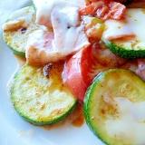 フライパンで☆ズッキーニとトマトのチーズ焼き
