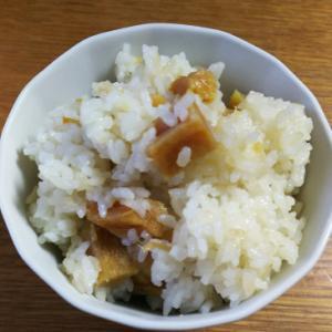 粉をふいた干し芋からの芋ご飯
