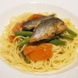 【高知食材】鰯と夏野菜のスパゲッティーニ