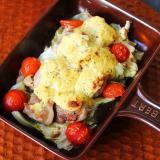 タルタルソースで、チキンと野菜のタルタル焼き