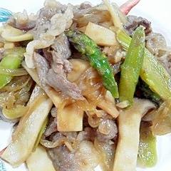 牛バラ肉と野菜の炒め物
