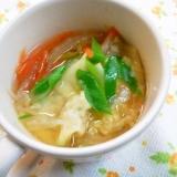 温まる*^^*白菜のワンタンスープ♪
