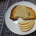 かわいい♪はちみつりんごトースト