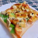 野菜の味噌マヨトースト