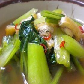 かぶの葉と揚げの中華煮びたし
