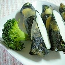 魚のすり身の海苔シソ天ぷら