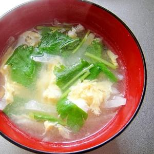 大根とたまご三つ葉の味噌汁