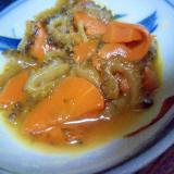 ゴーヤと人参のオレンジジュース煮