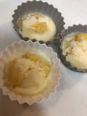 米粉でバナナ蒸しパン
