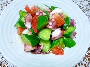 にんにくとオリーブオイルで作るタコのサラダ