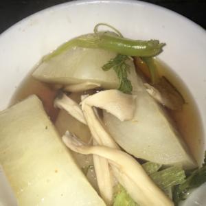 シンプル醤油味大根とエリンギ汁