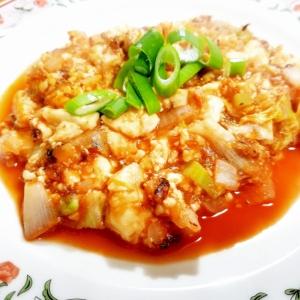水切り豆腐のケチャップ炒め