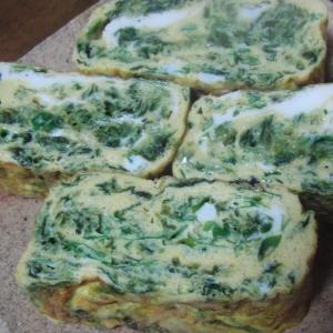 緑色の卵焼き