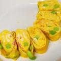 カニカマ・枝豆の卵焼き