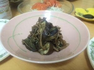 茄子とエノキのすき焼き風