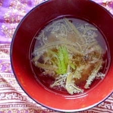 じゅんさいのお味噌汁