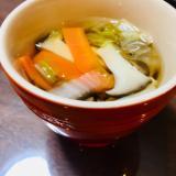 白菜ときのこの和風スープ