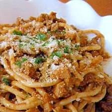 簡単お昼に☆カレーミートスパゲティ