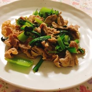 青梗菜と豚肉の炒め物