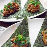 納豆と海苔で簡単おつまみ!