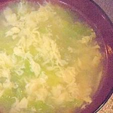 卵と白菜の中華スープ