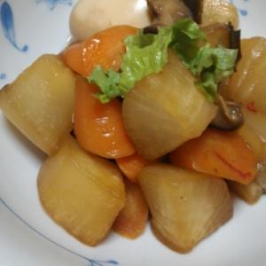 大根と根菜の簡単煮物