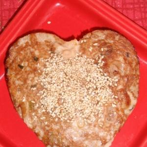 鶏ひき肉のネギ味噌ハンバーグ
