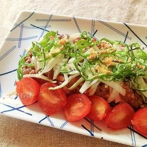 ピザソースで簡単!豆腐と納豆のヘルシーピザ風