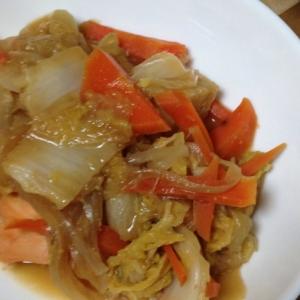 白菜を使った鮭のチャンチャン焼き