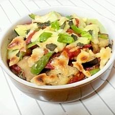 夏野菜のおいしいトマトチーズ焼き