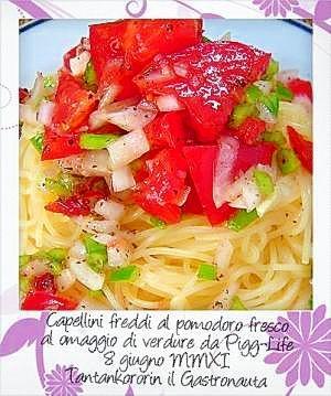 ピグライフ野菜で作る冷製『トマトのカッペリーニ』