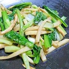鶏ムネ肉と小松菜のチンジャオロース風