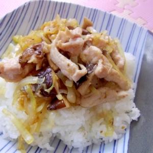 簡単*美味しい*豚と椎茸の塩麹味噌炒めごはん