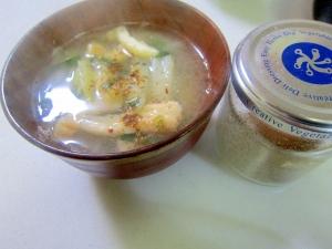大根と油揚げと韮の味噌汁