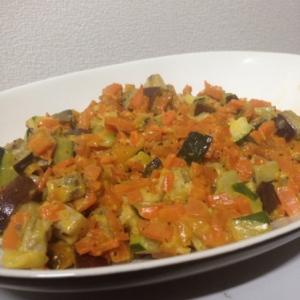 角切り野菜のマヨソテー