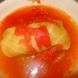 おから入りロールキャベツトマト味