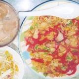 超簡単野菜サラダ!麺つゆとワサビのドレッシング