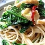 ほうれん草とカムットのスパゲッティ