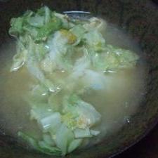 キャベ玉汁(ササッと味噌汁の一つ