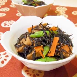 ひじきと高野豆腐の煮物