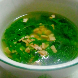 ラディッシュの葉のコンソメスープ