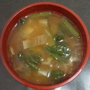 小松菜と大根の味噌汁
