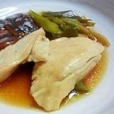 鶏むね肉と椎茸の煮物