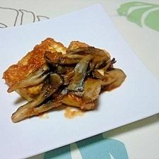 豆腐ステーキの舞茸添え++