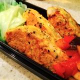 蒸し鶏で簡単*胡麻香るチーズピカタ 野菜のソース