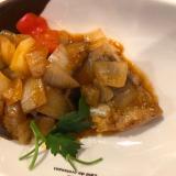 白身魚のムニエル onたっぷり野菜ソース