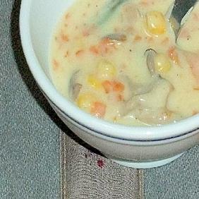 暖かい野菜のクリームスープ
