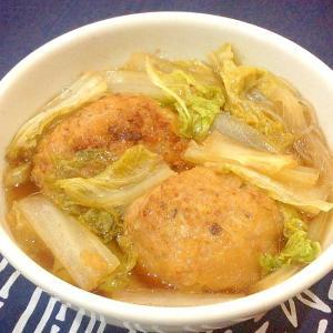 獅子頭鍋(大きい肉団子の鍋)