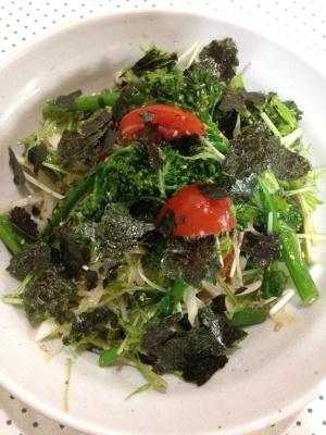 ごま油でチョレギ風♪ブロッコリーと水菜のサラダ♪