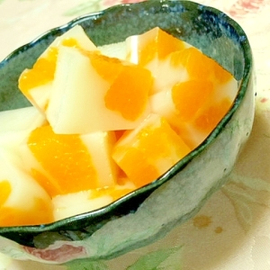 さっぱり❤生姜豆乳みかん寒天❤